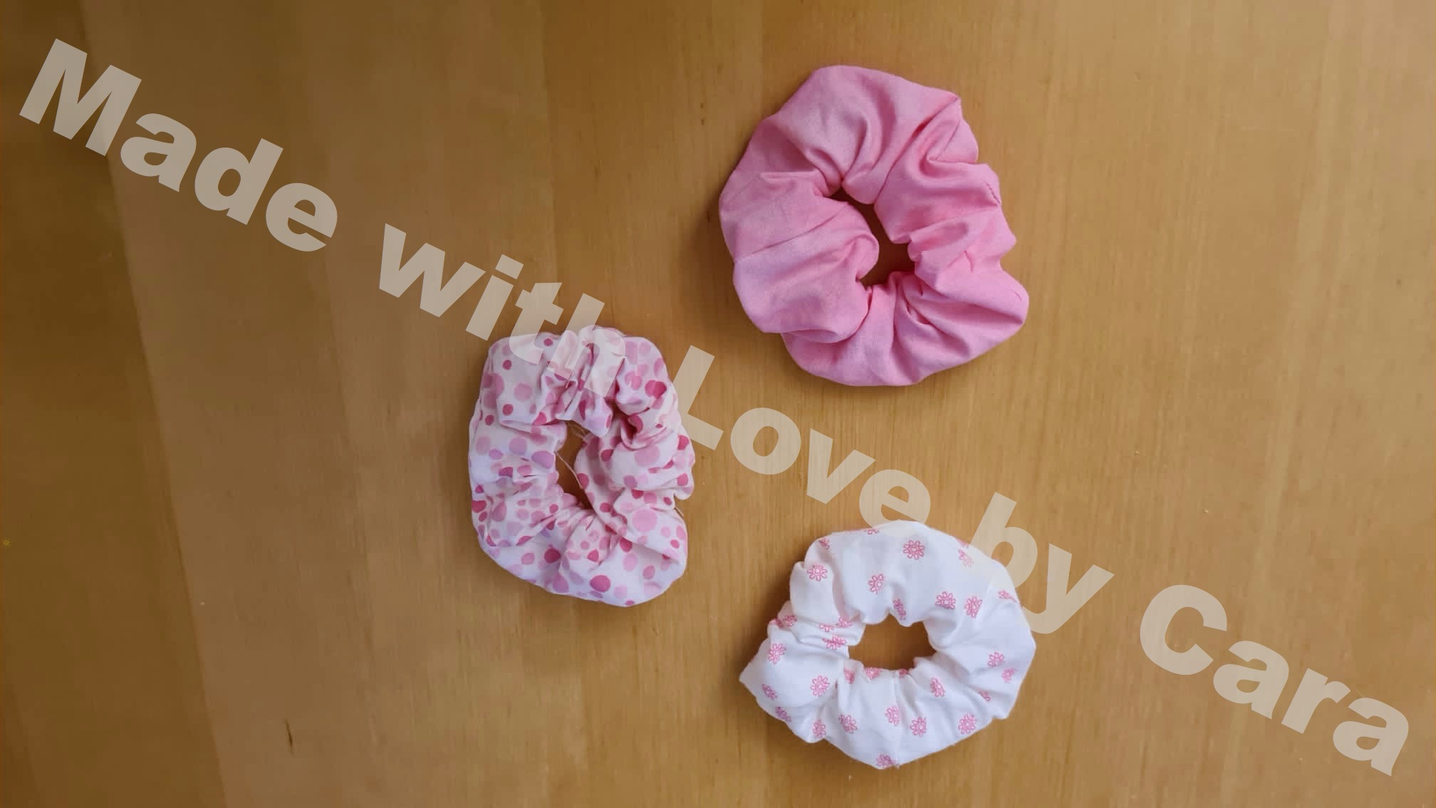 Scrunchie-Set Rosa (3er Set)